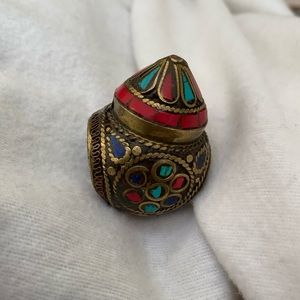 Colorful Tribal Chunky Ring